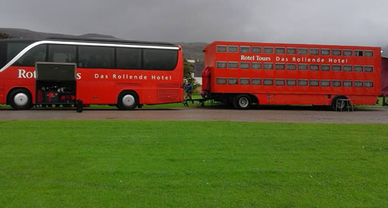 The bus hotel at Broomfield